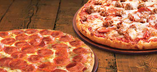 2 LG 2-TOPPING PIZZAS FOR $24