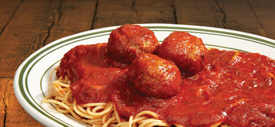 Spaghetti and 3 Meatballs